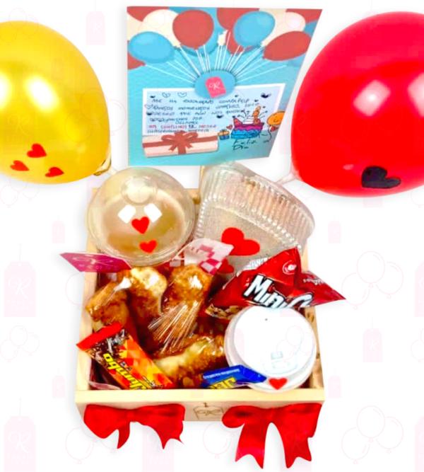 Caja de maderita con globos- Boyacá