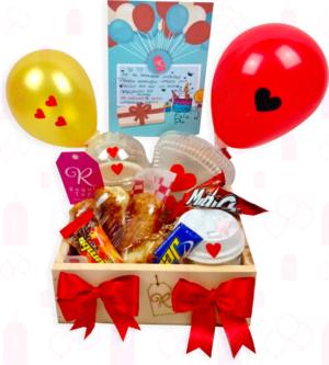 Caja de maderita con globos-Boyacá